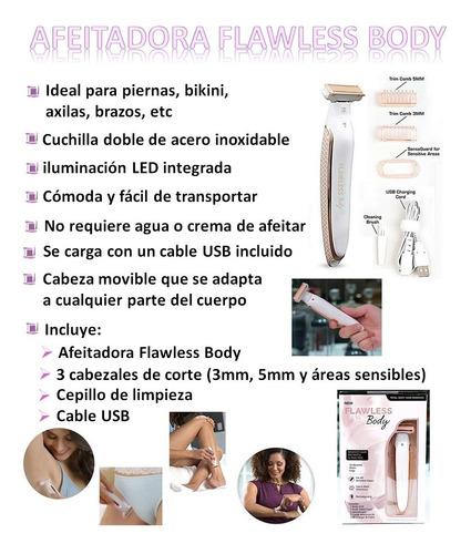 afeitadora electrica inalambrica flawless body recargable