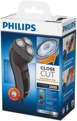 afeitadora eléctrica philips close cut hq6944 patillera