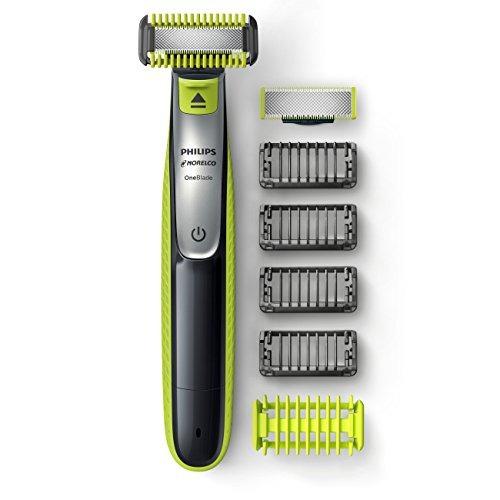 afeitadora eléctrica philips norelco oneblade face + body hy