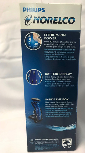 afeitadora electrica philips shever 6400 series 6000