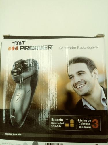 afeitadora eléctrica recargable 3 cabezas patillera premier
