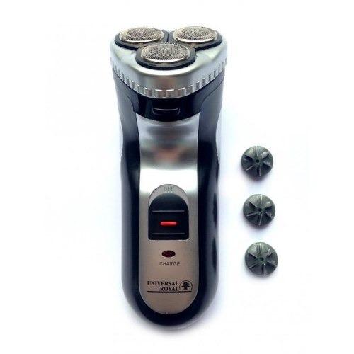 afeitadora eléctrica recargable con patillera - negro
