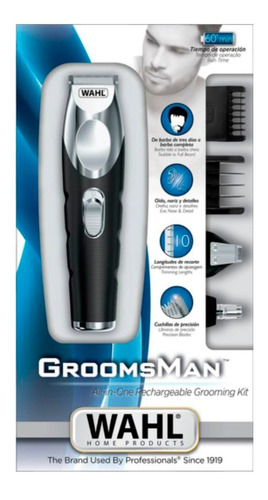 afeitadora electrica wahl groomsman 100% original envio grat