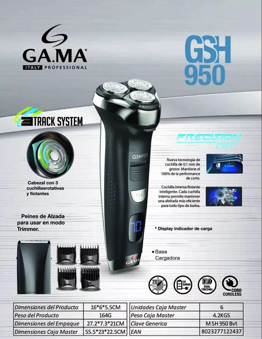 afeitadora gama gsh950 2 en 1 sistema 3 track 3 cabezales. Cargando zoom. 5fb444935b8f