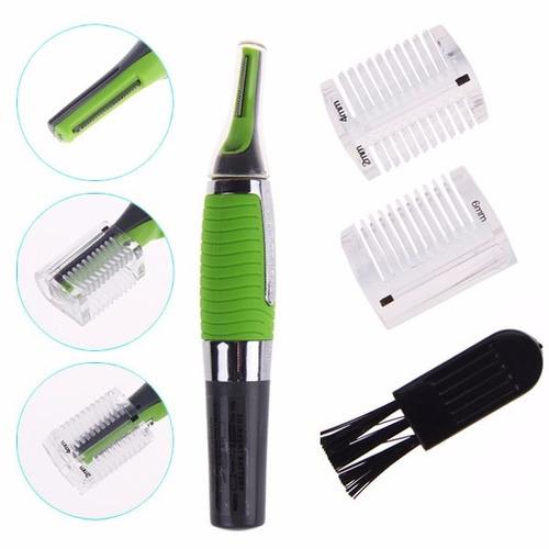 afeitadora microtouch max con luz led y doble guia