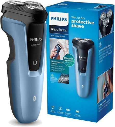 afeitadora philips aquatouch s1070 inalambrica lavable recar