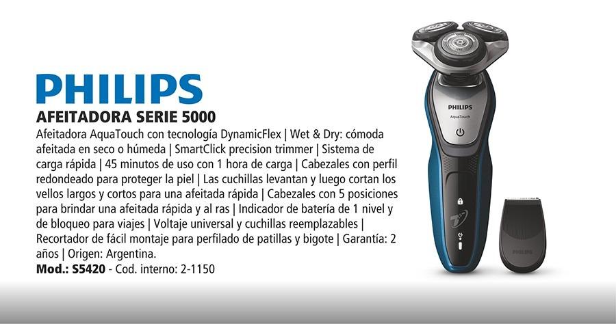 afeitadora philips aquatouch s5420 eléctrica recargab. 2-150. Cargando zoom. 2830570ef839