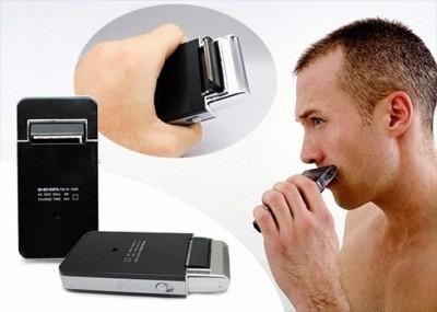 afeitadora rasuradora  barba recargable  diseño tipo iphon