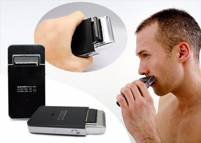 afeitadora rasuradora de barba recargable elegante diseño