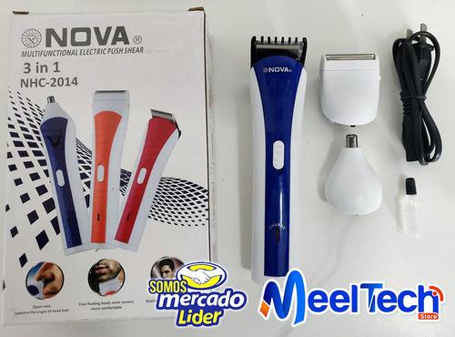 afeitadora recargable portatil nova 3 maquinas en 1