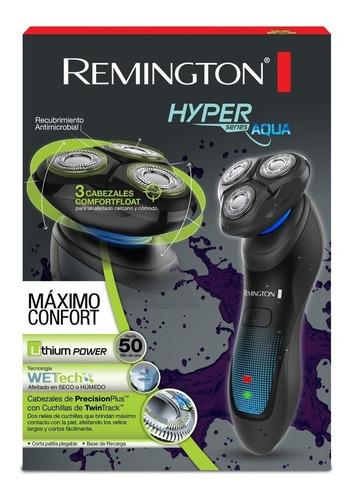 afeitadora rotativa remington hyperflex aqua, azul xr1430