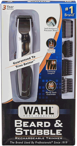 afeitadora wahl recargable todo en uno bigote patilla barba