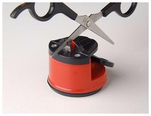 afiador amolador de facas tesoura canivete facão c/ ventosa
