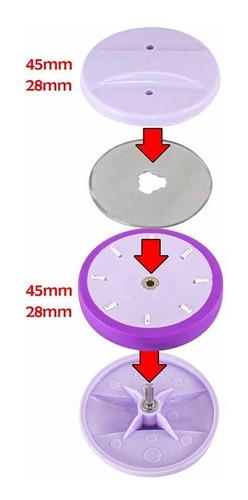 afiador laminas discos 28 e 45mm patchwork scrapbook sewmate