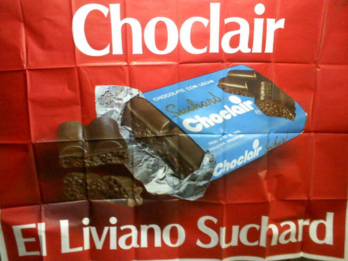 afiche antiguo chocolate choclair de suchard del 70