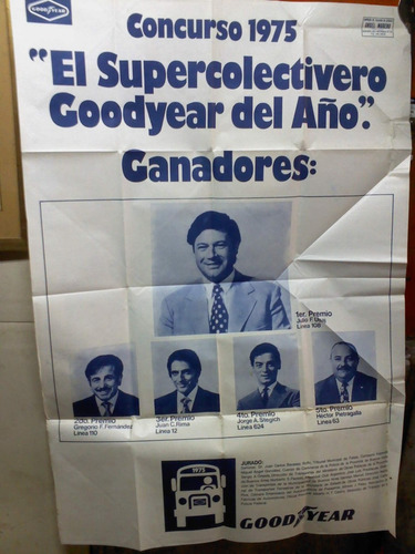 afiche antiguo con el super colectivero muy bueno decada 70