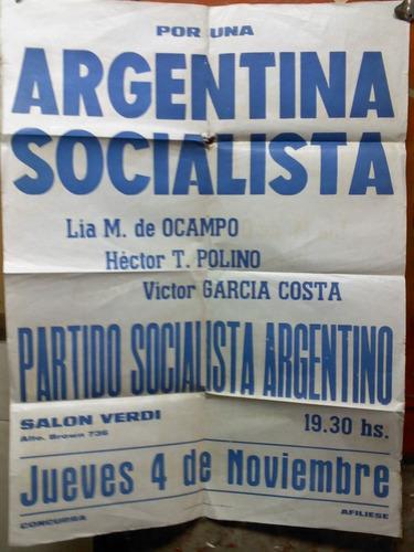 afiche antiguo partido socialista muy bueno
