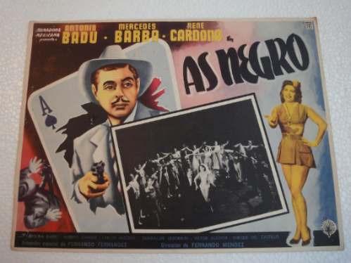 afiche as negro antonio badu mercedes barba rene cardona1954