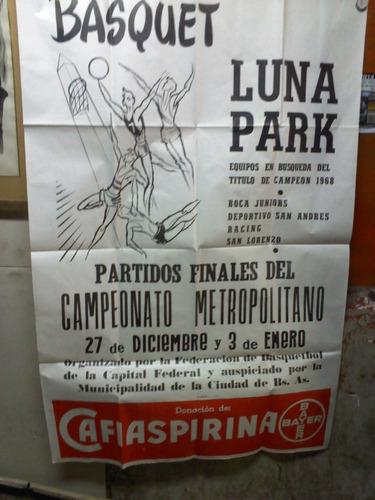 afiche campeonato de basquet .boca san lorenzo.raul afiches