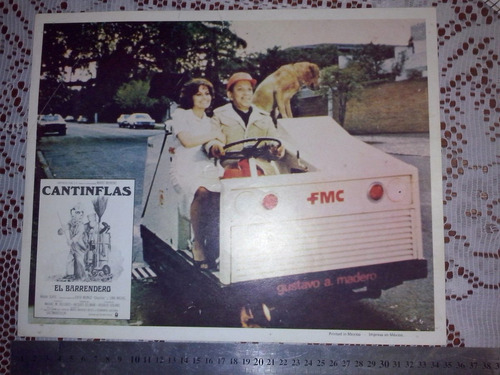 afiche-cartel de cine original -  cantinflas  el barrendero