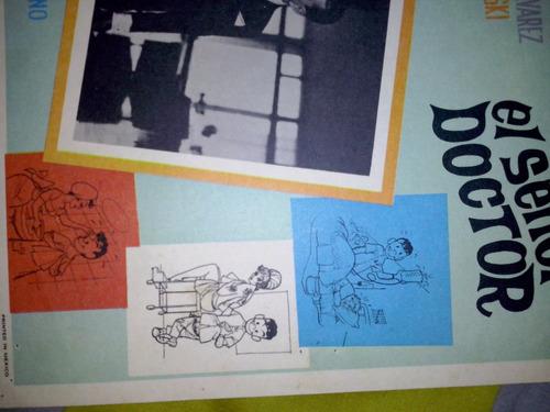 afiche-cartel de cine original -cantinflas  el señor doctor