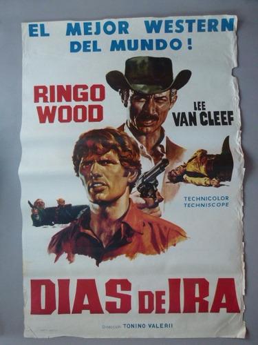 afiche cine días de ira . 'i giorni dell'ira', italia 1967