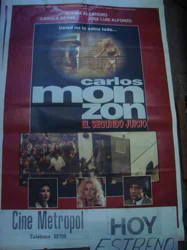 afiche cine orig carlos monzón el segundo juicio 110 x0,75