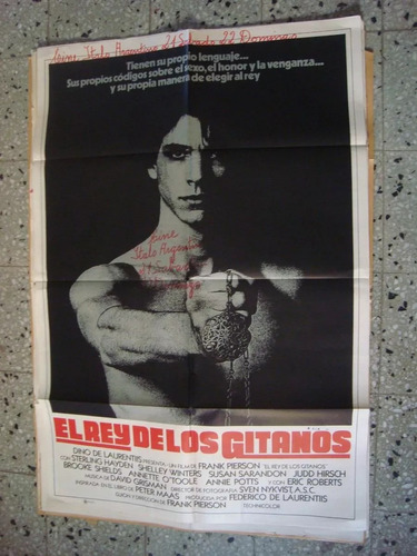 afiche cine orig el rey de los gitanos 110x75 laurentis