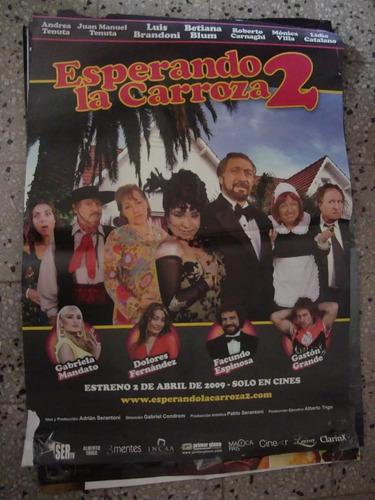 afiche cine orig esperando la carroza 2 110 x75 póster