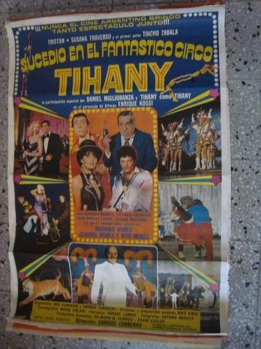 afiche cine orig sucedio en el fantastico circo tihany