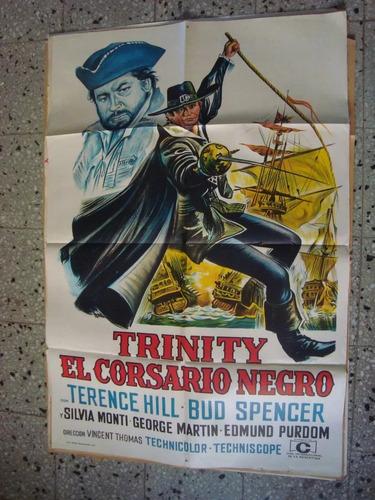 afiche cine orig trinity el corsario negro 110x75 spencer hi