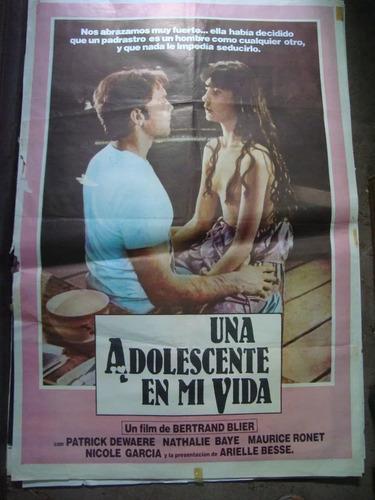 afiche cine orig una adolescente en mi vida 110x0,75 póster