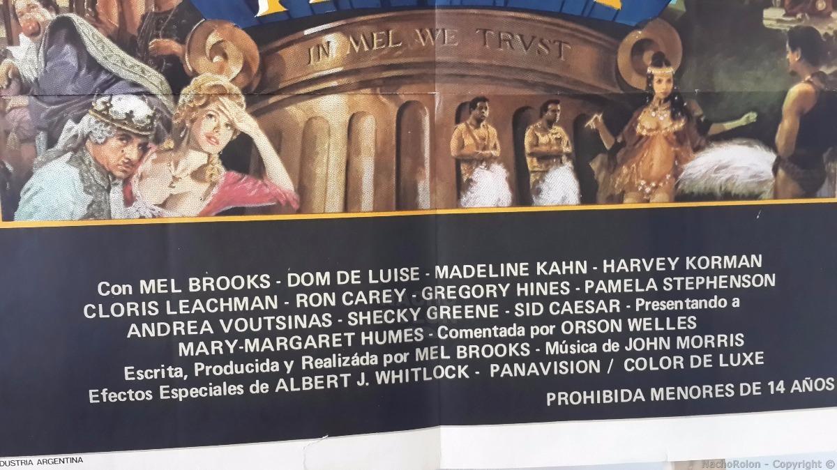Afiche Cine Poster La Loca Historia Del Mundo Mel Brooks 299 00