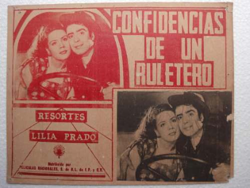afiche confidencias de un ruletero resortes lilia prado 1949