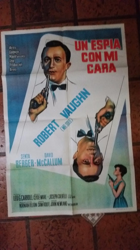 afiche de cine de los 60, original
