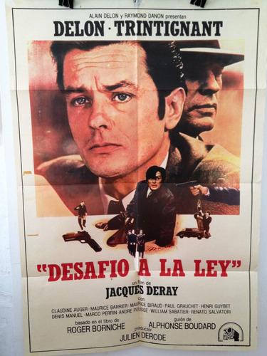 afiche de cine - desafio a la ley