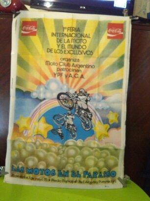 afiche de feria de moto . organiza moto club argentina