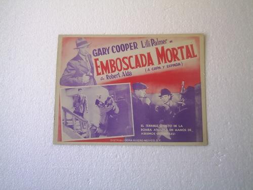 afiche de la película a capa y espada gary cooper f lang1946
