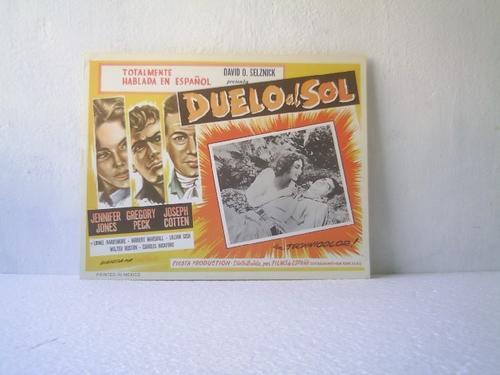 afiche de la película duelo al sol jones peck cotten 1946.