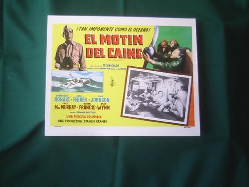 afiche de la película el motín del caine humphrey bogart1954