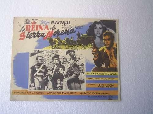 afiche de la película la reina de sierra morena mistral 1949