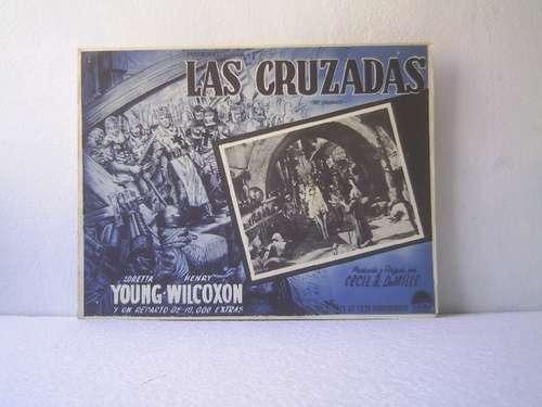 afiche de la película las cruzadas l. young h. wilcoxon 1935