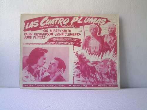 afiche de la película las cuatro plumas john clements 1939.