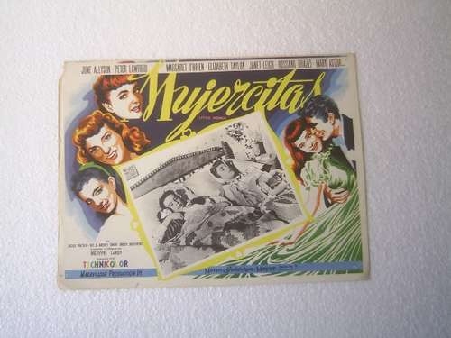 afiche de la película mujercitas j. allyson janet leigh 1949