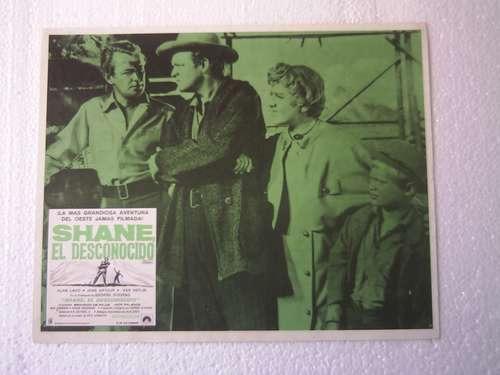 afiche de la película shane el desconocido alan ladd 1953