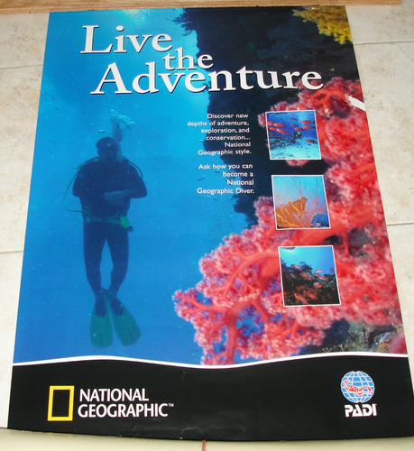 afiche de national geographic y padi