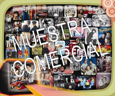 afiche de retro series televisivas