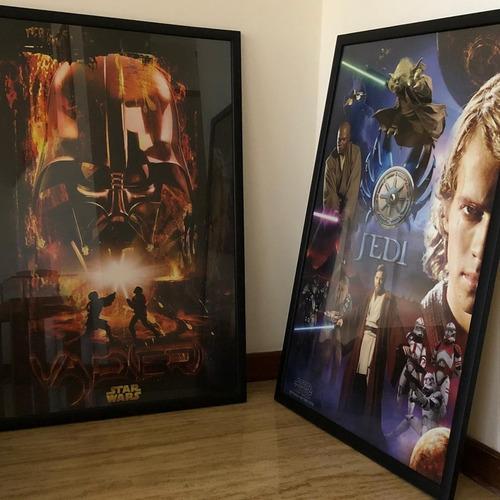 afiche de star wars enmarcados origina.  (cor.007)