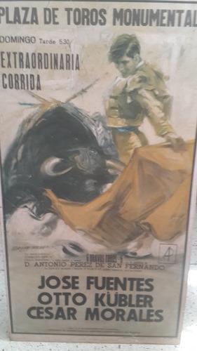afiche decorativo de corrida de toros  para tasca y barras