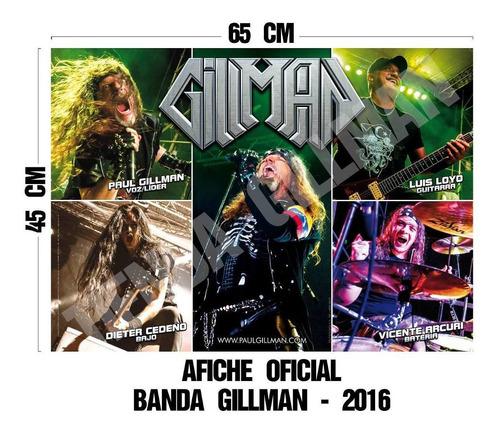 afiche gillman - 1/2 pliego - glasé 150